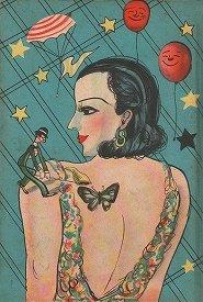 「現代ユーモア小説全集ー求婚時代」(1935年)の表紙、小野耕世氏所蔵。