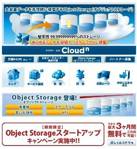 Biz ホスティング Cloudn Object Storage