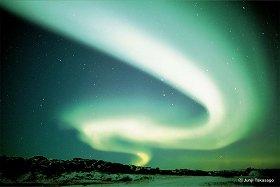 高砂さんがカナダで撮影したオーロラ。