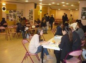 日本好きの大学生、高校生が集まった会場