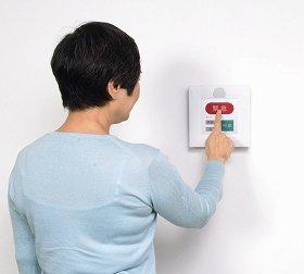 使用例。緊急ボタンを押すと、パトロール員が駆けつける
