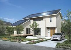 四季を通してエネルギーを効率的に使用する住宅(写真は、スマートエコイエ・フラグシッププラン外観)