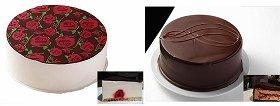 「フランボワーズとレモンムースのケーキ」、「ヘーゼルナッツと紅茶のクリスマスケーキ」