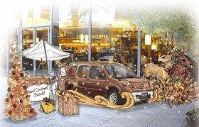チョコレート尽くしに装飾される「ルノー カングー ショコラ」(イメージ)