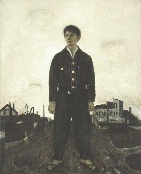 代表作「立てる像」、1942年