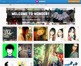 ヤフーの新SNS「WONDER!」トップページ(PC版)。日本発の画像SNSとして成功を収められるか