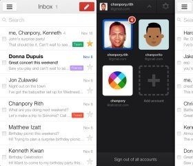UIを一新したiOS向け「Gmail」。複数アカウントの管理も容易