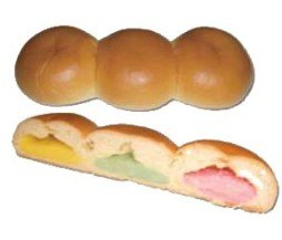 「3種のフルーツクリームパン」。お味は?