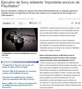 PlayStation 4の近日発表説を報じた「Emol」