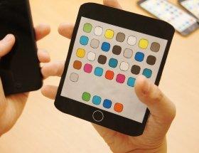 横長5インチ版iPhone(イメージ)。斬新という意味では一番かもしれない