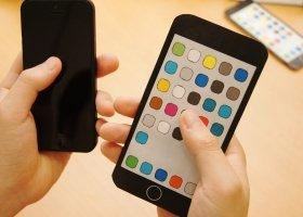 正統派の5インチ版iPhone(イメージ)。あまりiPhoneという感じがしない…