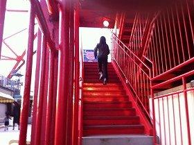 外階段600段を昇る