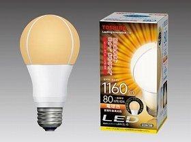 「2つの放熱技術」で、コンパクトな形状と高効率を実現(写真は、「LED電球 一般電球形12.4W」)