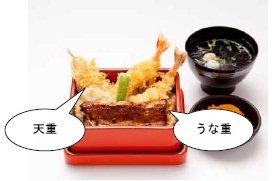 うなぎ和食・味乃宮川の半々メニュー「うな天重」