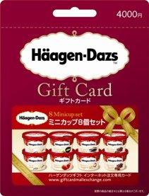 「ハーゲンダッツギフト インターネット注文専用カード」