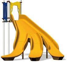ユニークなバナナの形のすべり台(写真は、バナナスライダー)