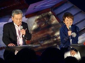 シャア役の池田秀一さん(左)とララァ役の潘恵子さん(右)