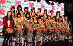 番組収録前に気合十分のNMB48メンバー