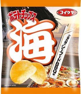 「コイケヤポテトチップス 夕暮れ時のシーフードBBQ味」