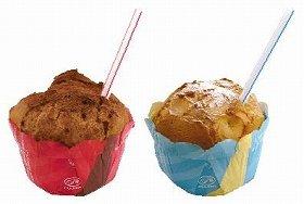 (左)ミルクカスタード味、(右)カスタード味