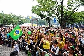 代々木公園で開かれた「第7回 ブラジルフェスティバル」の様子