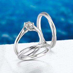 ダイヤモンドをあしらった指輪