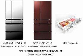 日立大容量冷蔵庫「真空チルドFS」シリーズM-6700DとG-6700D