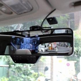 「220度パノラマ映像ミラー型ドライブレコーダー」