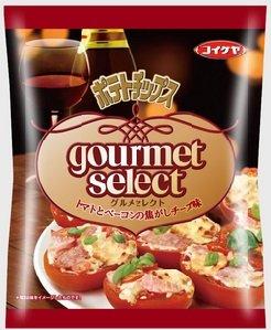 ポテトチップスグルメセレクト トマトとベーコンの焦がしチーズ味