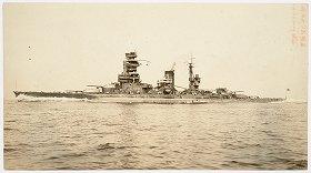 沈没前の戦艦陸奥