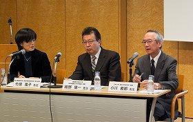 左から竹田晃子氏・紺野愼一医師・小川節郎医師