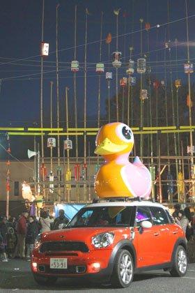 MINIが「やんちゃ」を探して「古河提灯竿もみまつり」にやって来た!