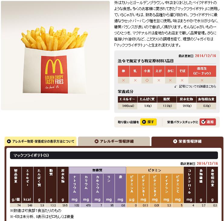 「日本マクドナルド」公式サイトより