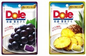 果実の美味しさを味わえるグミ 「ドールグミ(グレープ)」「ドールグミ(パイナップル)」