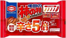 「192g亀田の柿の種辛さ5倍6袋詰」