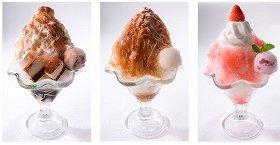 人気の洋菓子をイメージしたかき氷メニュー3品