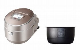 「大火力側面ヒーター」の搭載で、少量の炊飯でもおいしく炊き上げる(写真は、「ふっくら御膳 RZ‐VW3000M」)
