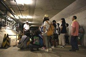 アクアトンネル内「緊急避難通路」の探検