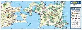 折りたたみ式の一枚地図