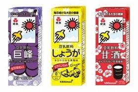 「紀文 豆乳飲料 巨峰/しょうが/甘酒」