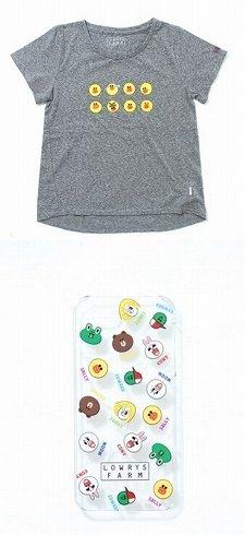 上がプリントTシャツ、下がスマートフォンケース、一例