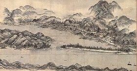 国宝 天橋立図 雪舟筆 10月13日まで展示 京都国立博物館所蔵