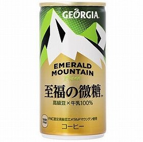 「ジョージア エメラルドマウンテンブレンド 至福の微糖」(185グラム缶)
