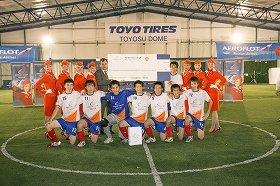 香港での決勝目指し、6チームが激突 アエロフロート主催の学生フットサル大会