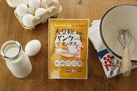 オレンジページがみたけ食品とコラボ 国産原料にこだわった「大豆粉と米粉のパンケーキミックス」発売