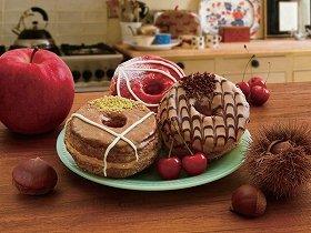 ミスタークロワッサンドーナツから秋を感じる期間限定3フレーバー「アップル&カスタードホイップ」など発売