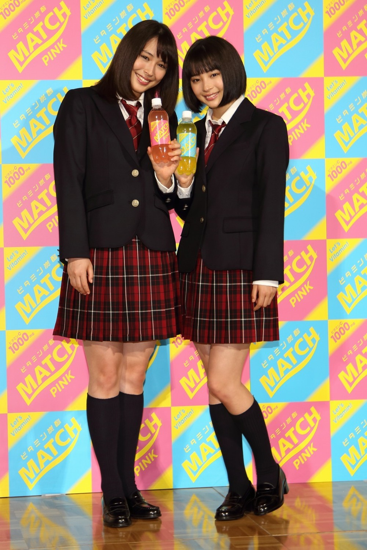 広瀬姉妹、女子高生役で新CM アリス「24歳でも制服いける」すず「私はもっと」