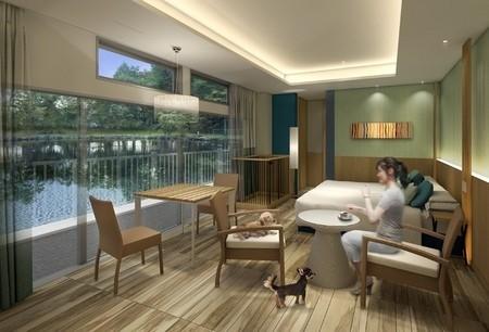 栃木・那須のホテルに「ワンちゃんと泊まれる」 一緒に部屋で食事も