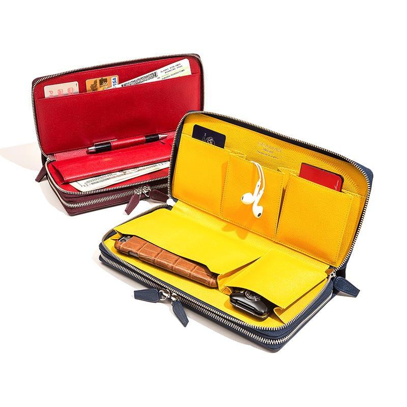 スマホや財布に小物を収納「これだけで出かけられる」がコンセプト レザー製オーガナイザー