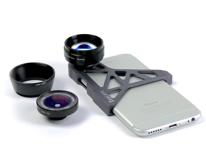 iPhone 6専用フレームで取り付ける望遠&広角レンズ「EXOLENS for iPhone 6」